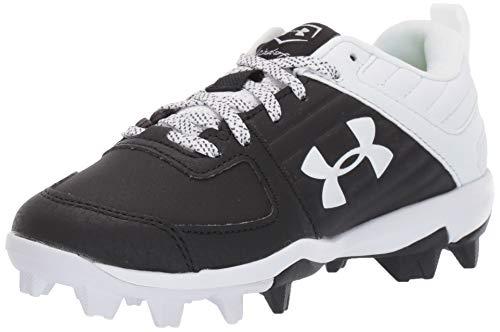 Under Armour boys Leadoff Low Rm Jr. Baseball Shoe, Black/White, 5.5 Big Kid US