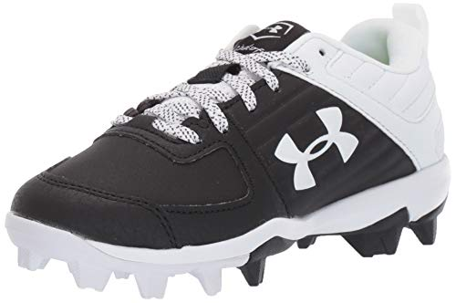Under Armour boys Leadoff Low Rm Jr. Baseball Shoe, Black/White, 3.5 Big Kid US