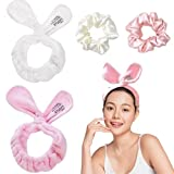 Lacrima 4 Pack Spa Headbands For Women With Scrunchies...