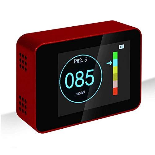Air Qualität Detektor Laser PM 2,5 PM10 PM 1,0 Detektoren Air Qualität Monitor Smart Sensor Alkoholtester Air Qualität Tester Rot
