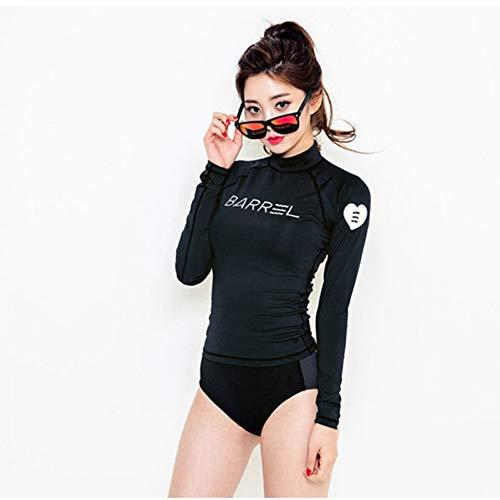 CHONGLANGFU Rashguard Traje De Baño De Manga Larga Traje De Baño para Mujeres Kitesurf Rushguard Traje De Surf Femenino Separado 2019 Nuevo Yoga Secado Sólido