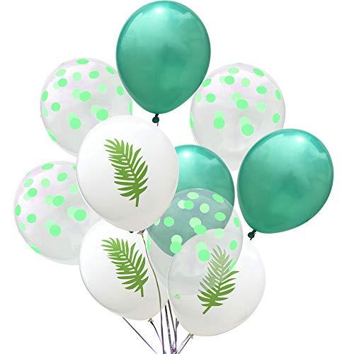 Doitsa 10 Stücke Luftballon 12 Zoll Aluminium Folien Ballons Set für Weihnachts Dekoration,Geburtstag,Hochzeit,Graduierung,Valentinstag Grün