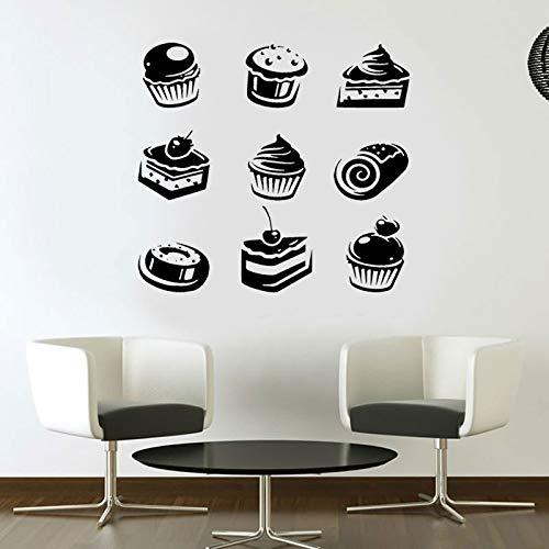ganlanshu Muffins, Cupcakes, Desserts, Snacks, Gebäck, Wandtattoos, Innenwandbilder 57x57cm