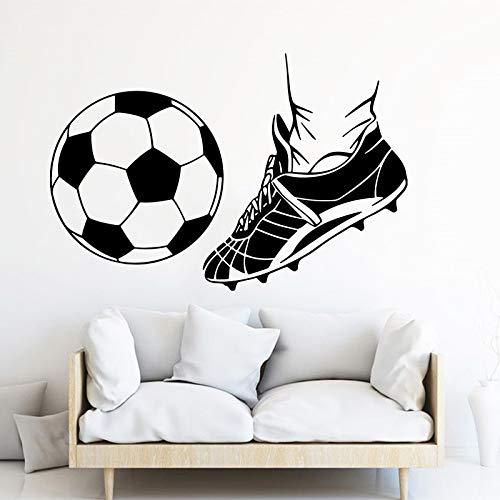 Blrpbc Adhesivos Pared Pegatinas de Pared Jugar fútbol Deporte habitación de niños Sala de Juegos fútbol fútbol Zapato Dormitorio Vinilo decoración del hogar 101x67cm