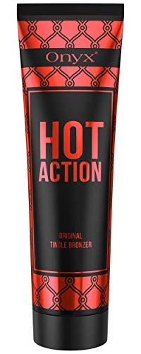 Onyx Hot Action - Tingle Tanning Lotion - For Advanced Tanners - Fast Absorbing and Bronzing