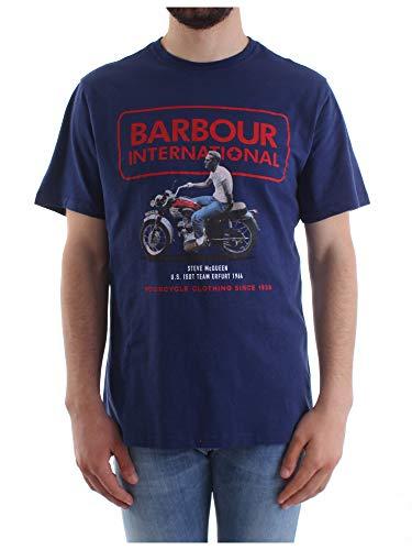 Barbour Batee0390-BL55 International SMQ Relaxed - Camiseta para hombre, 100 % algodón...