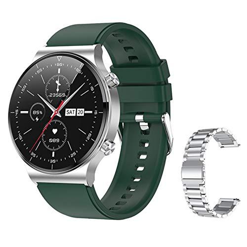 Gulu C12 Music Sports Men Smartwatch Impermeable Bluetooth Call Fitness Tracker Calorie Counter Pedómetro Compatibilidad Amplia,Q