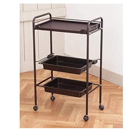 Hairdressing Salon Trolley Hairdressing Trolley Simple Trolley Semi-Permanent Trolley Multi-Layer Hair Salon Universal Tool Trolley for Beauty Make-up
