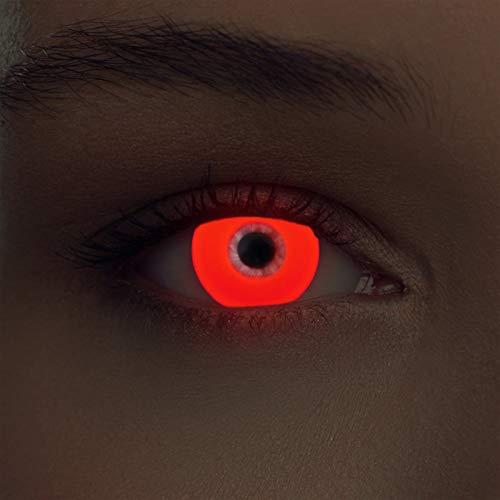 Rote leuchtende Schwarzlicht Kontaktlinsen Neon Kontaktlinsen in rot (Glowing Red)