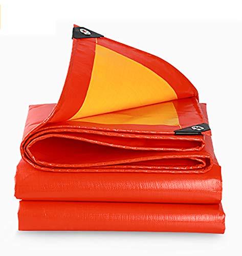 Tarpaulin-CZY voor buiten, dik dekzeil, waterdicht, kunststof Oxford-doek, vrachtwagen, schaduw, overkapping, zonwering, regendicht doek, aangepast 3mX6m oranje