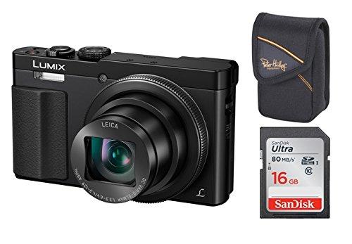 Panasonic Lumix DMC-TZ-71 EG-K schwarz Digitalkamera Set + Tasche + 16 GB Speicherkarte (12,1 Megapixel, 30-Fach Opt. Zoom, 7,6 cm (3 Zoll) LCD-Display, Full HD, WiFi, USB 2.0) (schwarz)
