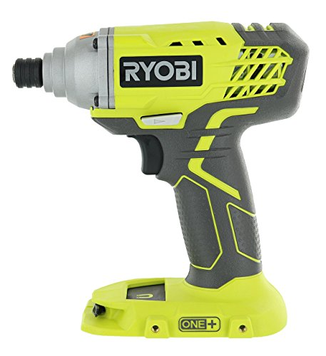 Ryobi P235 1/4 Inch One+ 18 Volt Lithium Ion Impact Driver with 1,600 Pounds of Torque (Battery Not Included, Power Tool Only) (Renewed)
