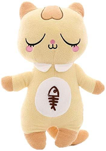 Gato de Felpa de Dibujos Animados de Juguete Los Animales de Peluche muñeca Regalo de cumpleaños Sofá Almohada Juguetes de Las niñas (Color : Yellow, Size : 28cm)