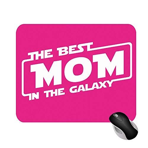 Fashion Graphic Tappetino Mouse Mousepad The Best Mom in The Galaxy Festa della Mamma Serie TV 18x22cm Gadget (Fucsia)