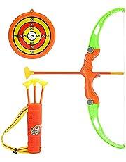 1 Set Kid Boog en Pijl Set Boogschieten Speelgoed met Zuignoppen Pijl Doel en Quiver voor Peuters en Kinderen Outdoor Activiteiten