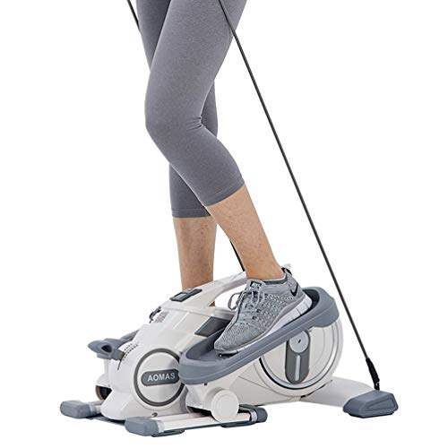 Withu Desk Elliptical Machine with Resistance Bands, Whisper-Quiet Mini Elliptical, Adjustable Magnetic Resistance, Display Monitor, Portable Handle