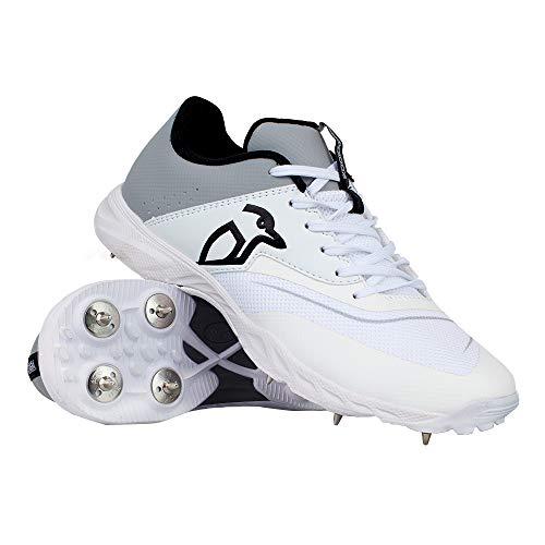 Kookaburra Kc 3.0, Unisex Cricket Spike Schuhe, Unisex, 3R201509, Weiß/Grau, 43