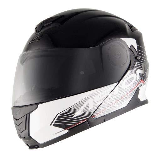 Astone Helmets - RT1200 Graphic Touring - Casque de moto modulable - Casque de moto pol yvalent - Casque de moto homologué - Coque en polycarbonate - black/white XL