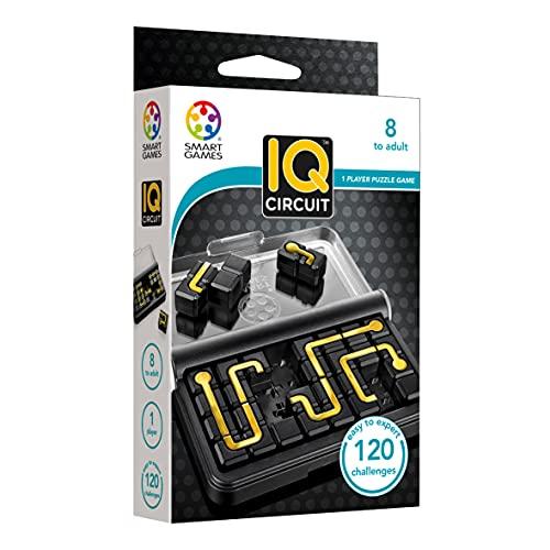 Smart Games IQ Circuit, Rompecabezas niños, Puzzle Educativo, Regalos Originales, Juegos de Viaje, Juguetes niño, Productos para Personas Mayores (SG457)