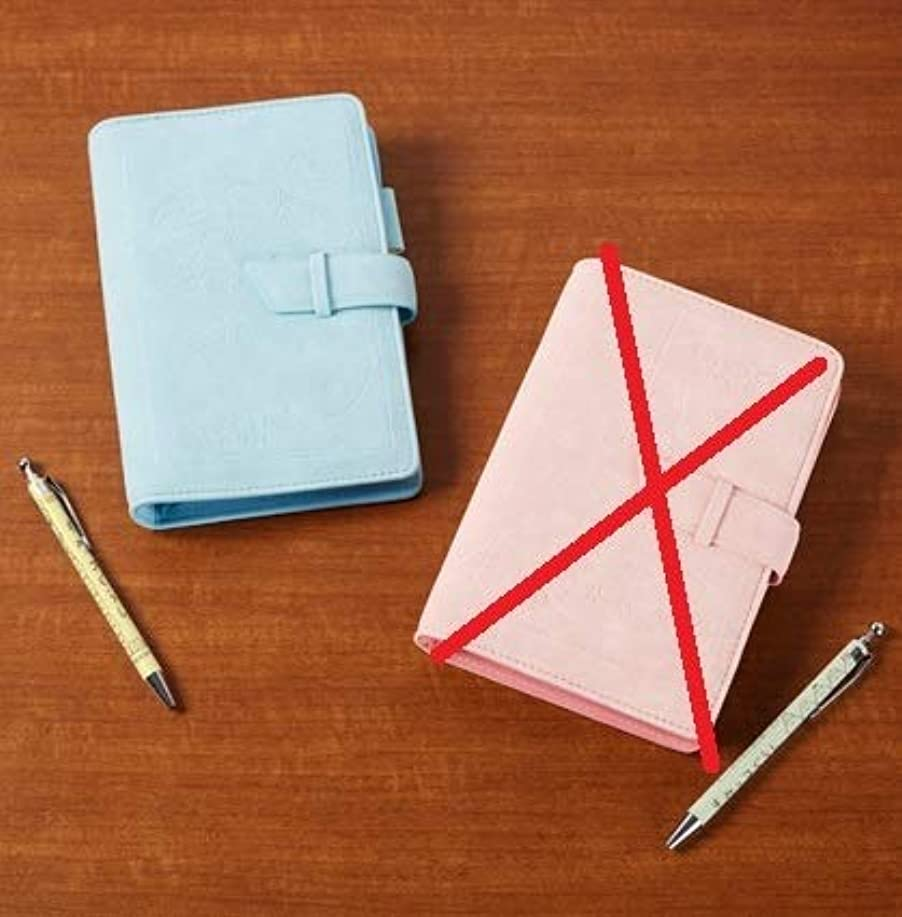 特徴に印をつけるすみっコぐらし ボールペン付き システム手帳 リフィル ボールペン 青 水色