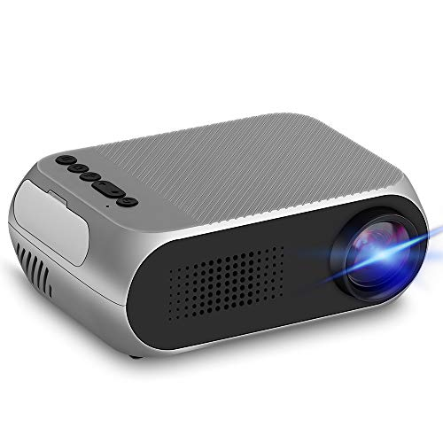 Mini Projector, LED Pico Projector Full HD 1080P Supported, Pocket Video Projector Compatible with PC TV DVD iPhone iPad USB TF AV HDMI, Home Theater Outdoor Projector for Movie Games Gifts for Kids