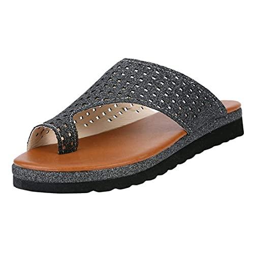 Sandalia de plataforma cómoda para mujer, sandalias de corrección de juanetes, sandalias de verano con puntera plana, sandalias de corrección de juanetes, zapatillas de viaje de playa para mujer,