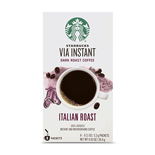 backpacking instant coffee packets Starbucks VIA Instant Coffee Dark Roast Packets — Italian Roast — 1 box (8 packets)