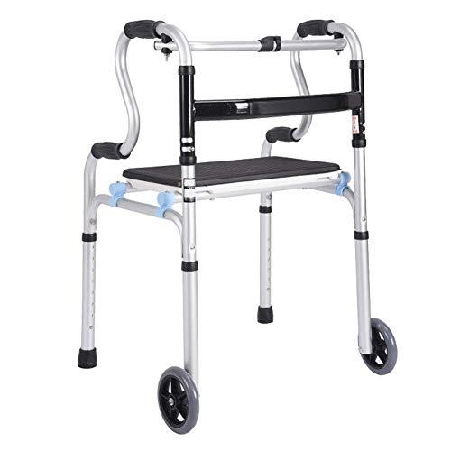 LXDDJZXQ Andador para Ancianos Walker, Ligero, Plegable, Caminante Ajustable, Conducir, Médico, Discapacitado, Anciano, Caminante, Ayuda, Muletas, Caminante Auxiliar, Pasamanos