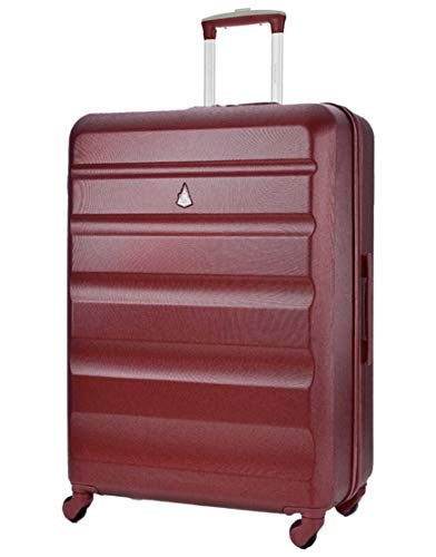 Aerolite Large 29' Super Lightweight ABS Hard Shell Travel Hold Check in Luggage Suitcase with 4 Wheels (Large, Wine)