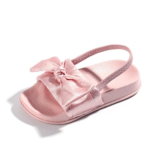 FITORY Toddler Girls Sandals Slip On Bow Slides Little Kids Summer Shoes Size 2-10