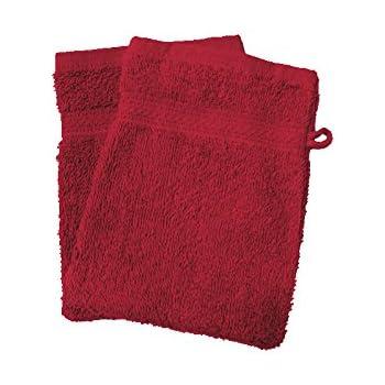 Soleil docre 421101 Lote de 2 Manoplas de baño Douceur Rojo 550gr ...