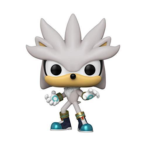 Funko- Pop Games Sonic 30th-Silver The Hedgehog Figura coleccionable, Multicolor (51965)