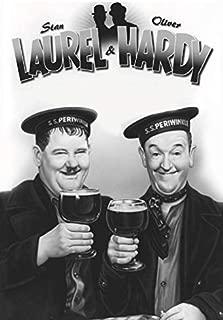 Mtasig Stan Laurel & Oliver Hardy Motiv 5 Metal Tin Sign Custom Metal Sign 16X12in-Bar Cafe Restaurant Home Decor