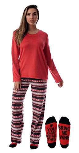 Just Love Womens Microfleece Pajama Pants Set with Socks 6734-10332-3X