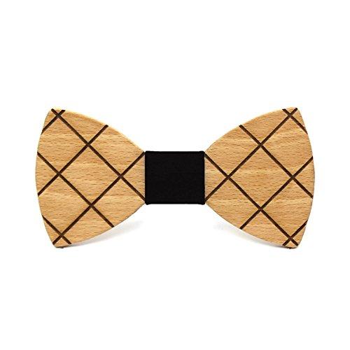 Pajarita de madera Cross. Colección de moda hombre: Madera de haya ...