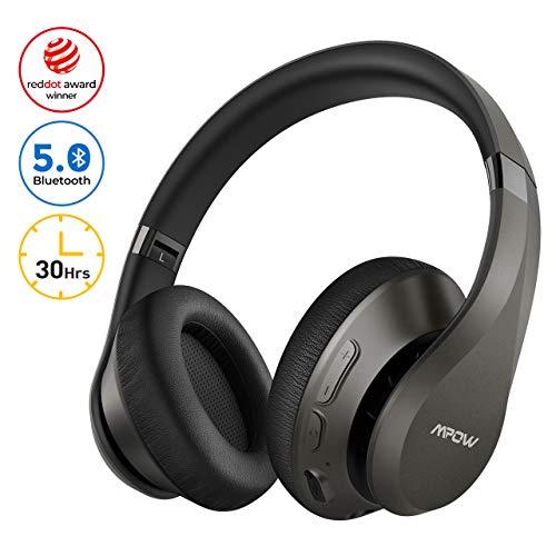 Mpow H20 Cuffie Bluetooth 5.0, Cuffie Wireless Con Autonomia 30 Ore, CVC 8.0 e Microfono, Hi-Fi Audio, Cuffie Over Ear Pieghevole, Cuffie Riduzione di Rumore Passiva, Cuffie Per Cellullari/PC/TV