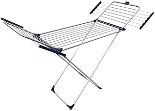 Gimi 1077002500000 Tempo Étendoir à linge sur pieds 100% Aluminium avec 25 m d'étendage