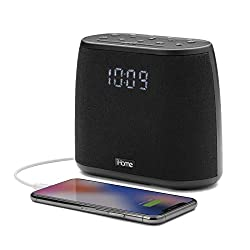 iHome iBT234 Dual Alarm Clock FM Radio Bluetooth Speaker, Voice Control Siri and Google Assistant, with USB Charging Station/Phone Chargers for Bedrooms