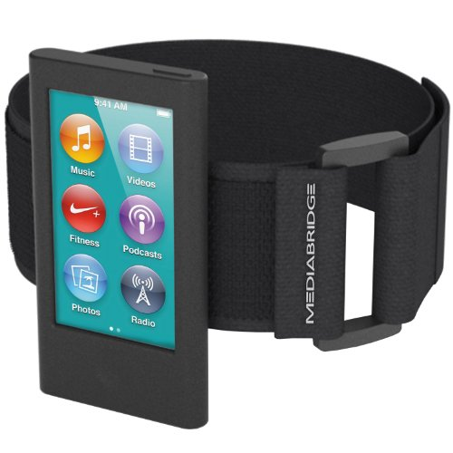 Mediabridge Armband for iPod Nano - 7th Generation / 8th Generation (Black) - Model AB1 (Part# AB1-IPN7-BLACK)
