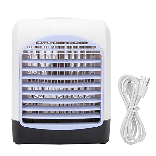 Ventilador de enfriamiento de Aire, fácil de Mover la máquina Enfriador de Aire Fuente de alimentación USB Enfriador de Aire aromático Buen Motor Potencia Fuerte y bajo Sonido con diseño de