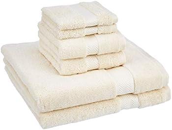 Amazon Basics 6-Piece Egyptian Cotton Towel Set