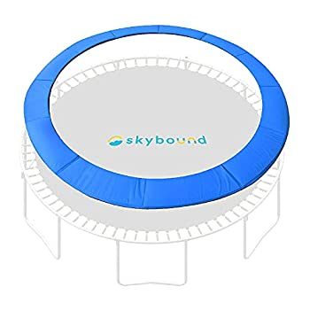 SkyBound 14 Foot Blue Trampoline Safety Pad - Spring Cover Fits Up to 7 Inch Springs - Standard