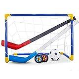 BovoYaJuego de Deporte de Hockey, Juguetes para niños Hover Hockey Set Hover Hockey Toys Indoor Outdoor Sport Ball Game for Children