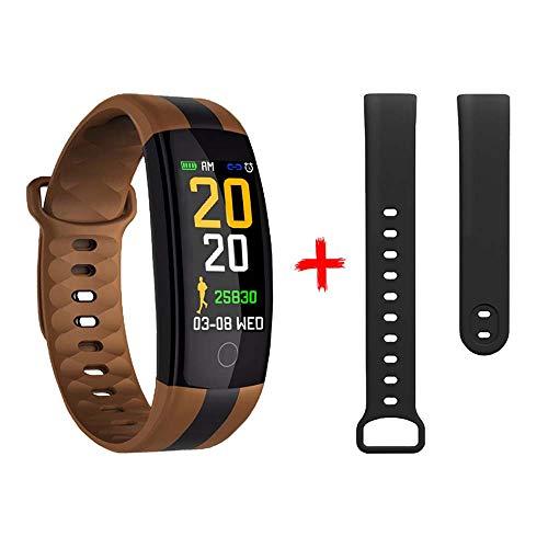 Fitness Tracker, Smartwatch met Gratis Band Aangepaste Activiteit Tracker met Multi Sport Modi Hartslag Smart Horloge Bluetooth Stappenteller voor Mannen Vrouwen