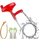 Rohrreinigungswelle Rohrreinigungsspirale Abflussspirale 7.62m Flexible Spirale mit Kralle Drain Snake, Haarablauf Clog Remover Reinigung Tool für Küche Badezimmer Spüle Waschbecken HELESIN