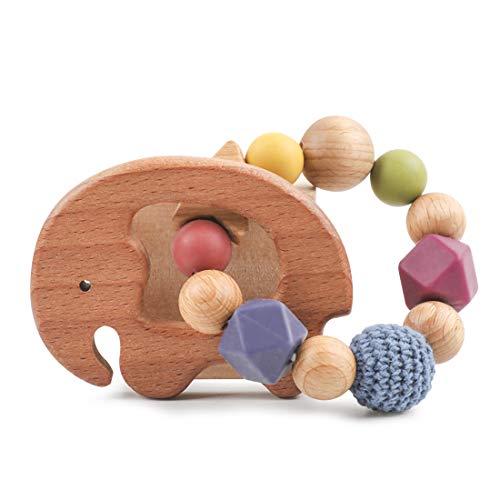 Mamimami Home Juguetes para beb/és Teether Juguetes Montessori Jugar Gym Beb/é Crib Juguetes Beech Wooden Car Activity Gym Juguetes