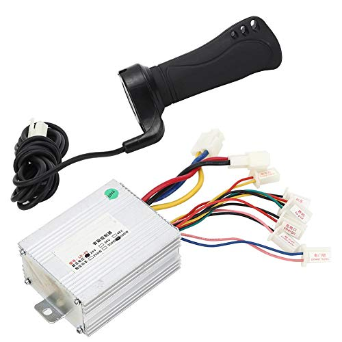 Alomejor Motor Brushed Speed ​​Controller 24V 500W Scooter Speed Brush Controller mit Lenker für Elektrische Überholung