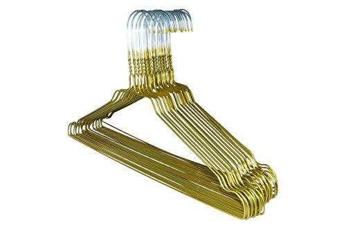 RSR-Classic 100 x Drahtbügel Metallkleiderbügel Kleiderbügel Drahtkleiderbügel Gold Drahtbügel Kleiderbügel Metall Draht verzinkt hochwertige Pulverbeschichtung Blusenbügel 40 cm