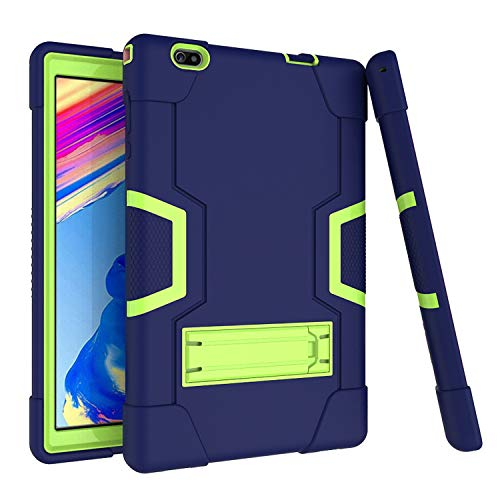 Cherrry for Vankyo matrixpad S20 10 Inch Tablet Case,Hybrid Heavy Duty Three Layer Full-Body Shockproof Armor Rugged Protective Case Cover with Stand for Vankyo MatrixPad S20 10 Inch (Navy/Green)