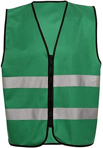 Fluorescent fietsen harnas jacket 360 graden zichtbare, reflecterende Vest, 100% polyester Bedrijfskleding Motorcycle Fietsen Sport Outdoor Reflecterende kleding Veiligheid (fluorescerend geel), Super